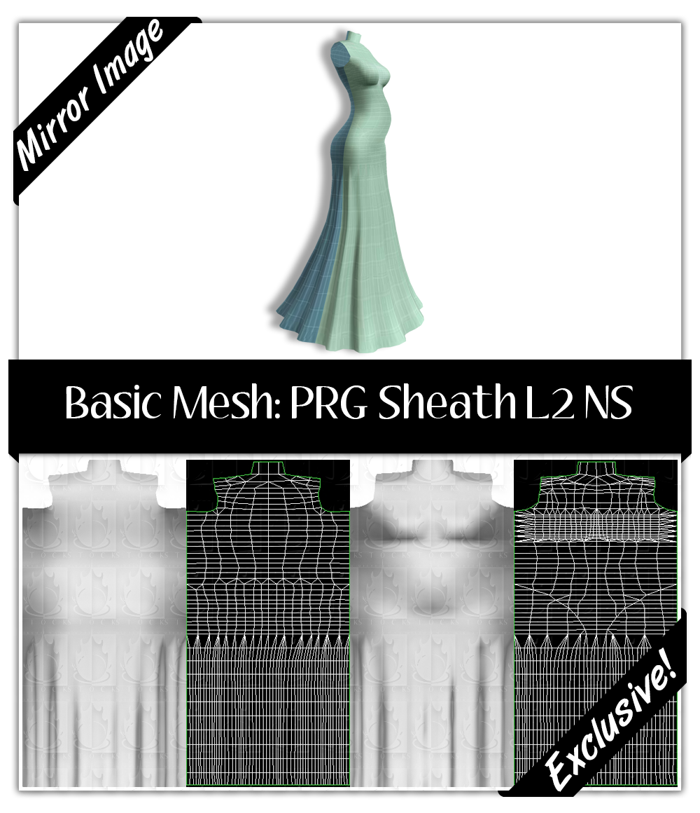 Basic Mesh: Pregnant Sheath L2 No Stretch