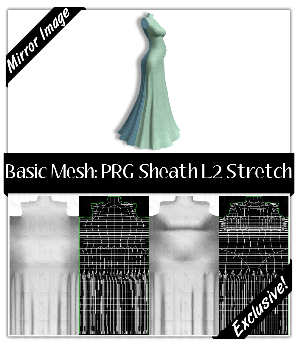 Basic Mesh: Pregnant Sheath L2 Stretch