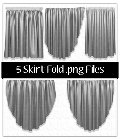 5 Skirt Fold .png Files Pack1
