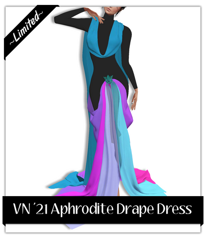 VN21 Aphrodite Drape Dress