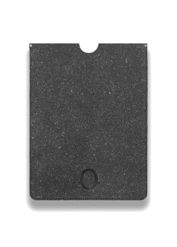 Poplar grey recycled leather 13 inch laptop sleeve