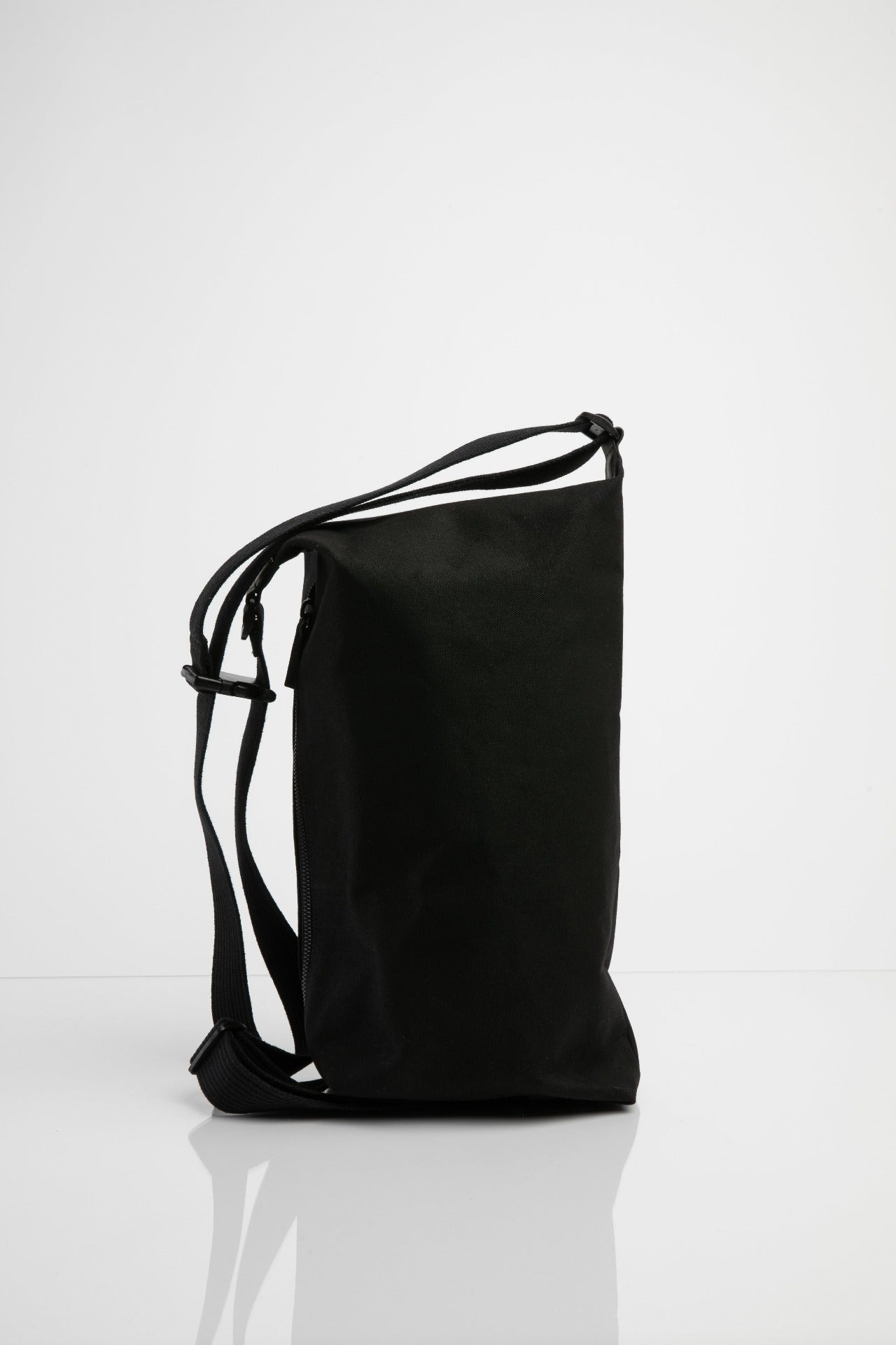 Vauxhall black waxed cotton shoulder bag