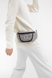 Deptford grey beeswaxed cotton bum bag with grey logo