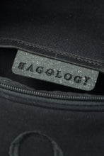 Deptford black cotton bum bag with black logo