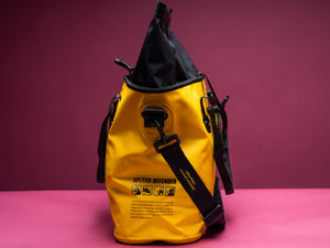 Marche yellow roll top unisex shoulder bag