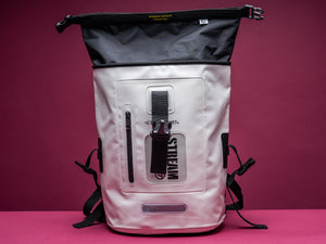 Dry Tank 18L white roll top unisex backpack