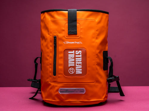 Dry Tank 18L orange roll top unisex backpack