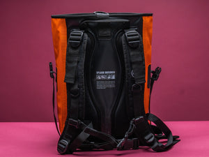 Dry Tank 25L orange roll top unisex backpack