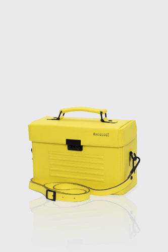 Old Street yellow leather unisex box bag