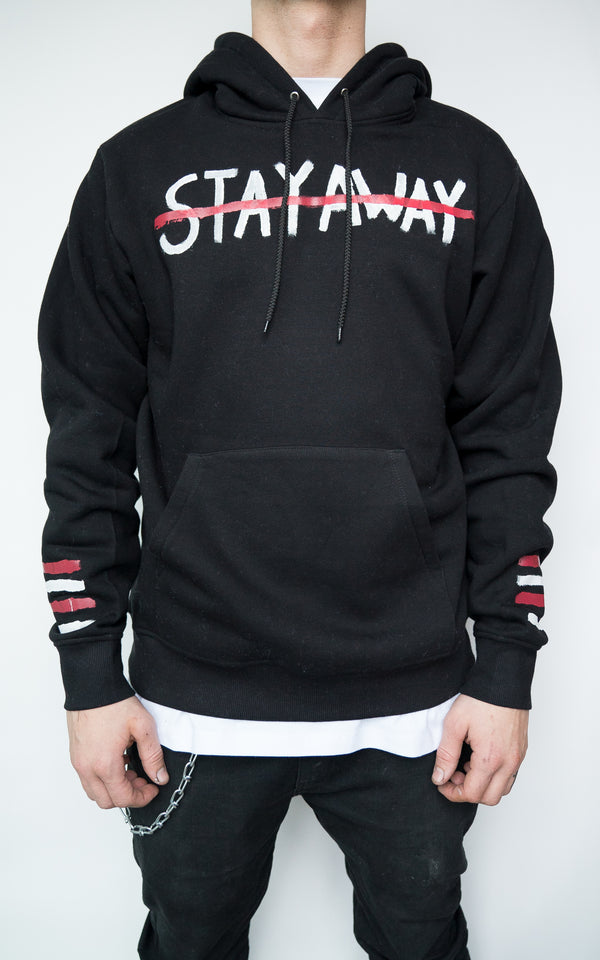 "LIMITED ""STAY AWAY"" HOODIE - BLACK"