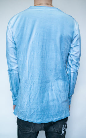 DYED LONG SLEEVE - SKY BLUE