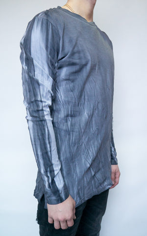 DYED LONG SLEEVE - CHARCOAL
