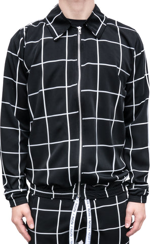 CHECKERED SWEATER JACKET