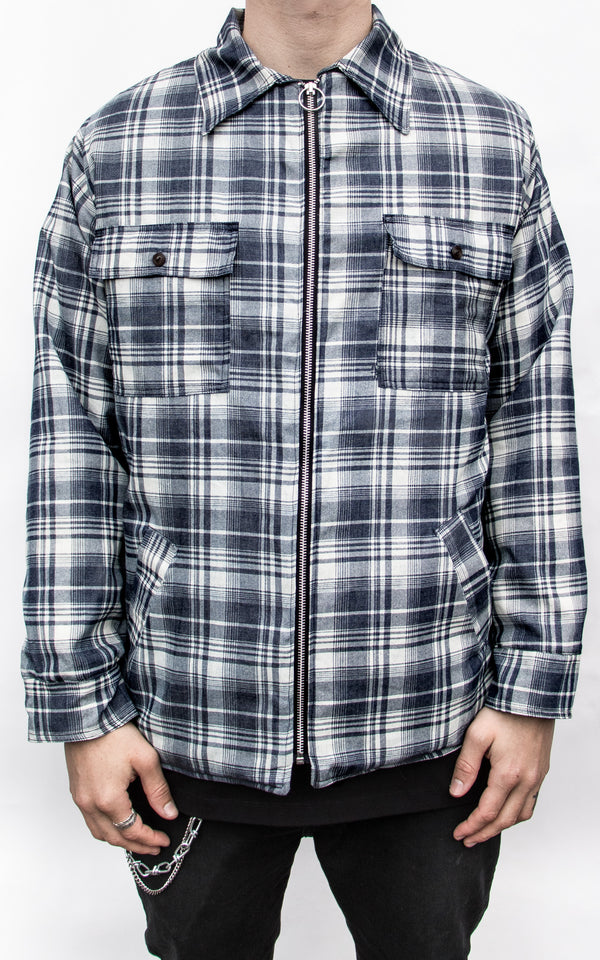 TARTAN PLAID COTTON-FLANNEL JACKET
