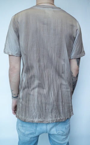 DYED T-SHIRT - MUD