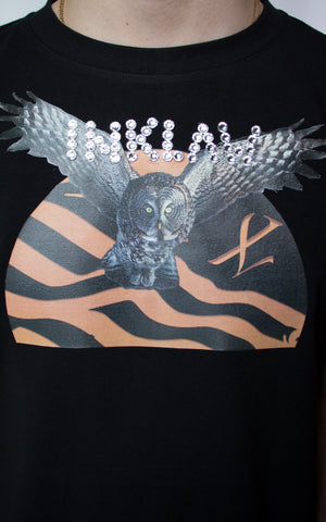 INKLAW OWL T-SHIRT - BLACK