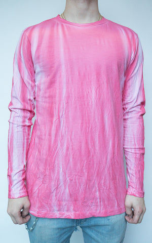 DYED LONG SLEEVE - FRENCH ROSE
