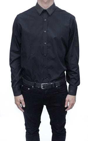 GLITTER LOOSE FIT SHIRT - BLACK