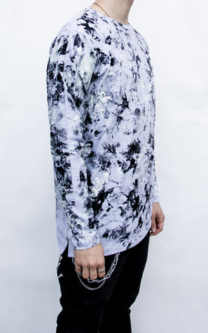 INKED CAMO LONG SLEEVE - GREY