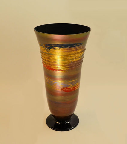 Golden Eye Red Swirl Vase 2
