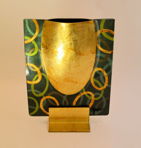 Golden Green Vase