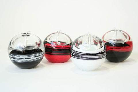 Oil lamps black & red