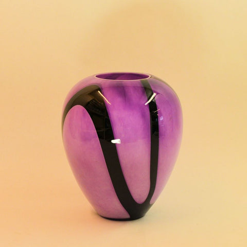 Retro purple black Vase