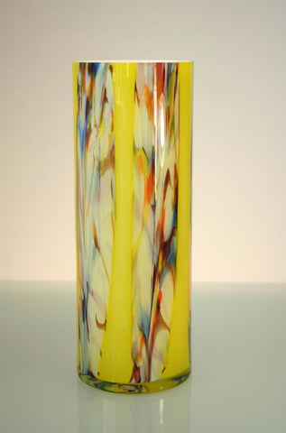 Yellow straight vase