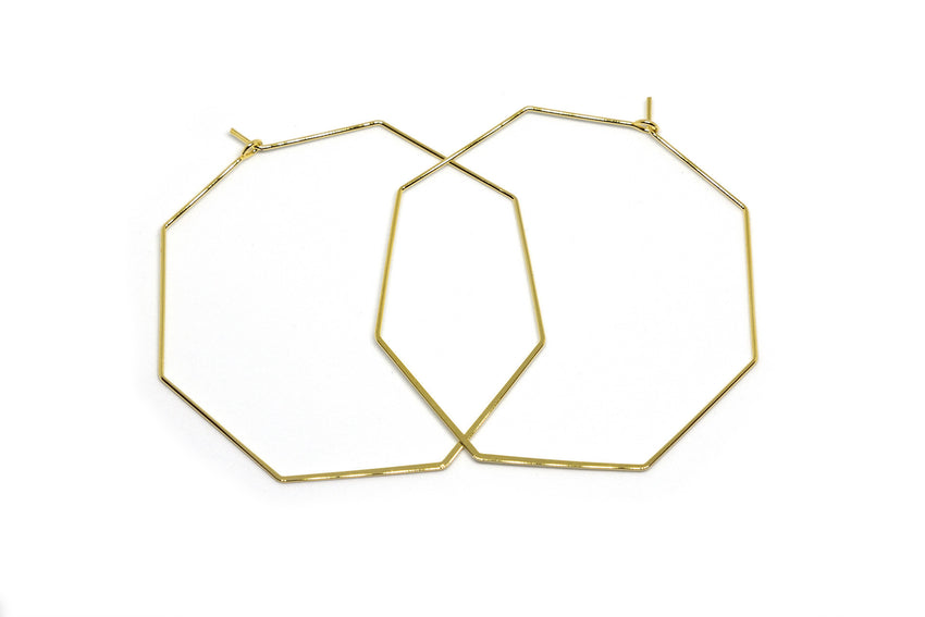 Love and Madness Stop Sign Hexagon Hoops - LOVEANDMADNESS