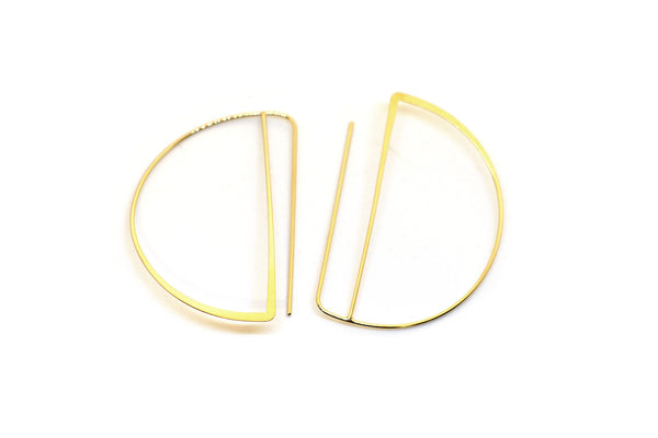 18k gold moon hoops love and madness