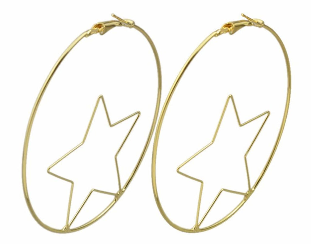 Magic and Madness Witchy Witchy 18K XL Star Hoops