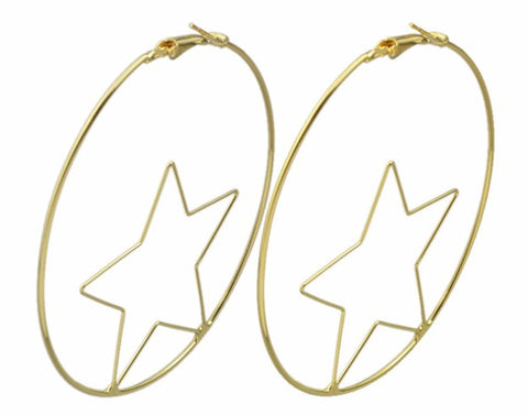 Love and Madness Witchy Witchy 18K XL Star Hoops