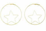 Love and Madness Witchy Witchy 18K XL Star Hoops - LOVEANDMADNESS