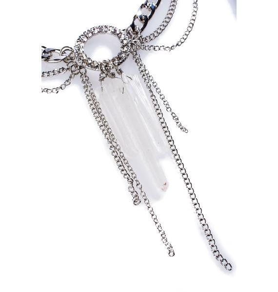 LOVE AND MADNESS CRYSTAL & CHAIN NECKLACE - LOVEANDMADNESS
