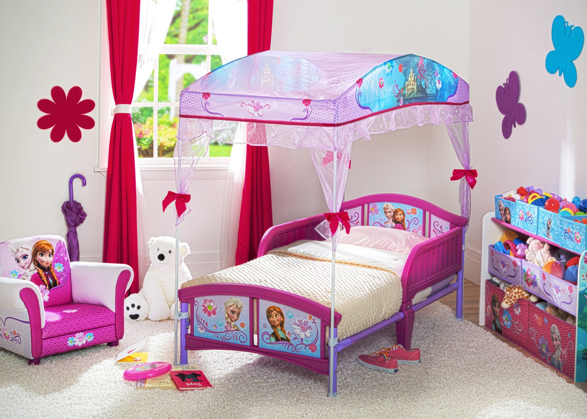 - Frozen Toddler Canopy Bed Deltaplayground