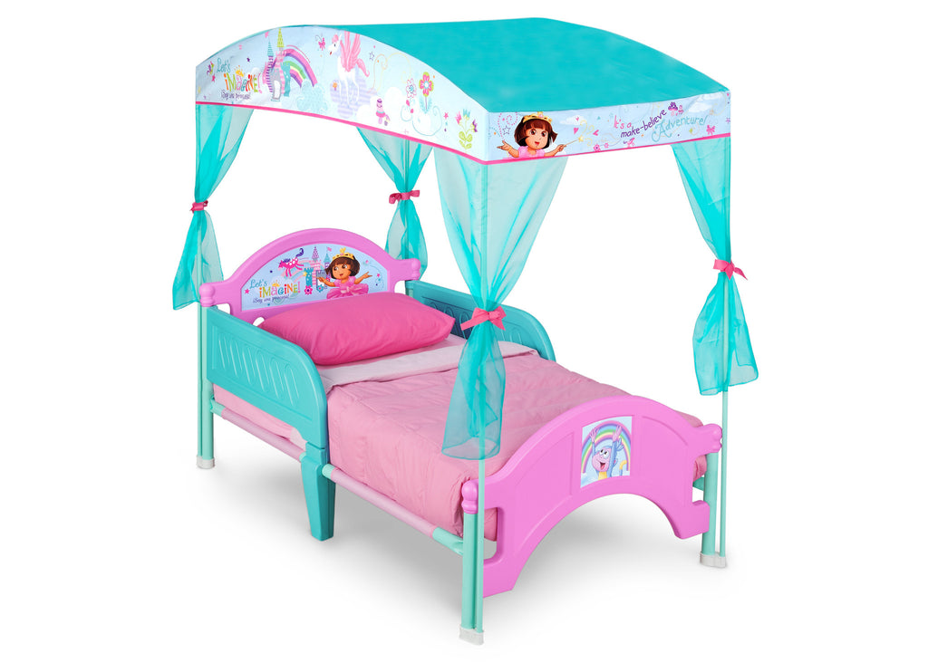 new product 15588 b588b Dora Toddler Canopy Bed
