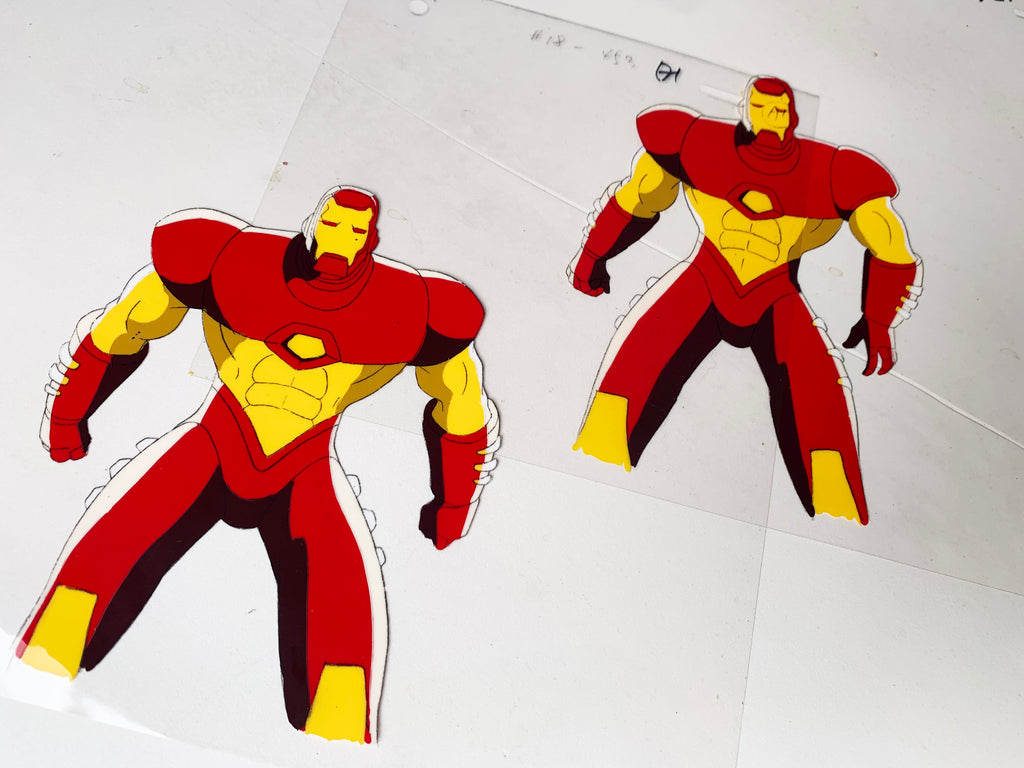 Iron-Man Original Animation Cel - no.1680 & 1681