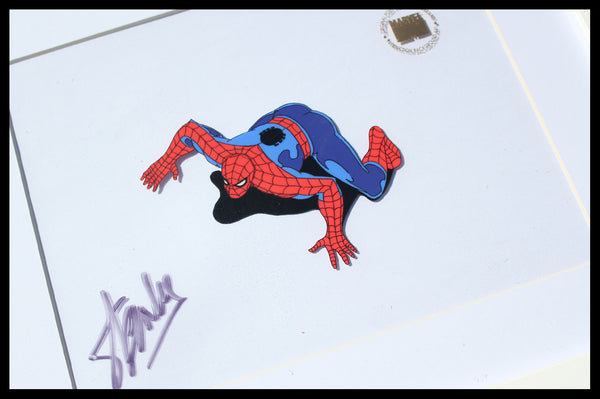 Signed Spider-Man Original Animation Cel