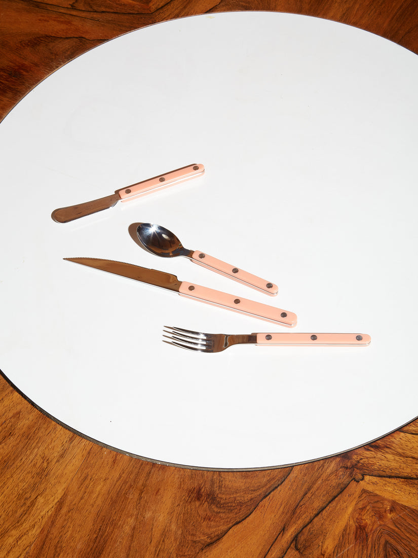 Stainless Steel Flatware in Coral