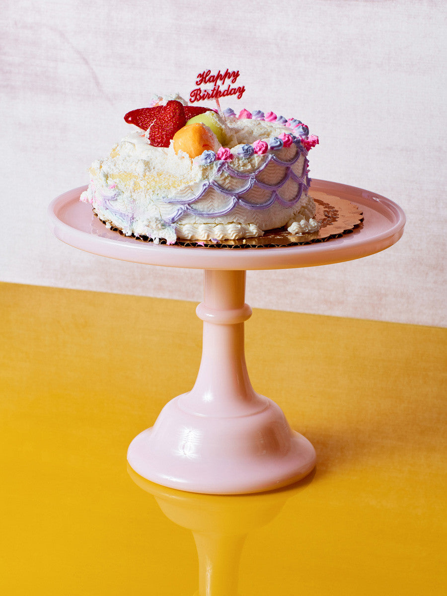 Blue Milk Glass Cake Stand Coming Soon