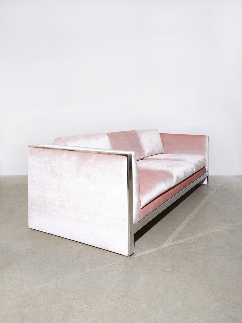Perfect Milo Baughman Chrome Sofa