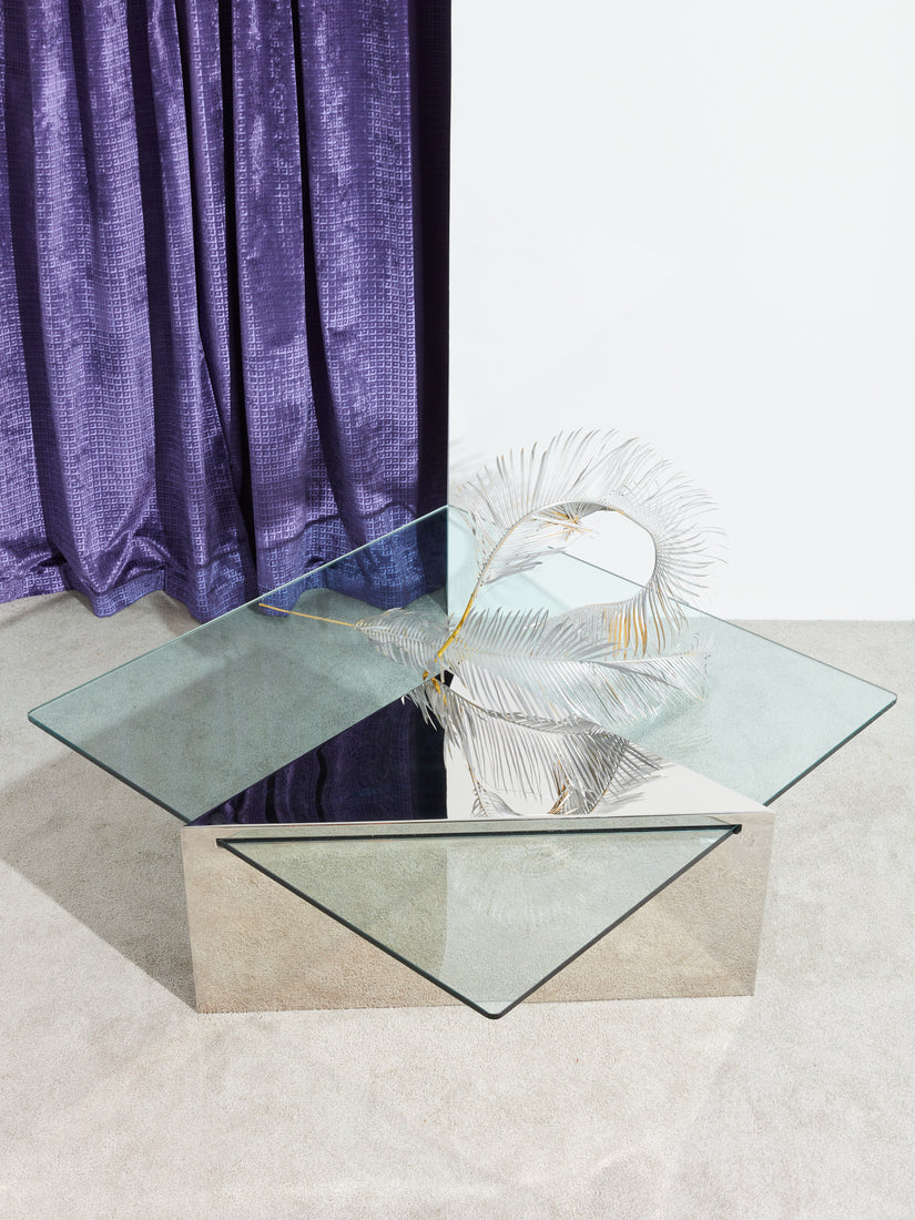 Chrome Cantilever Coffee Table