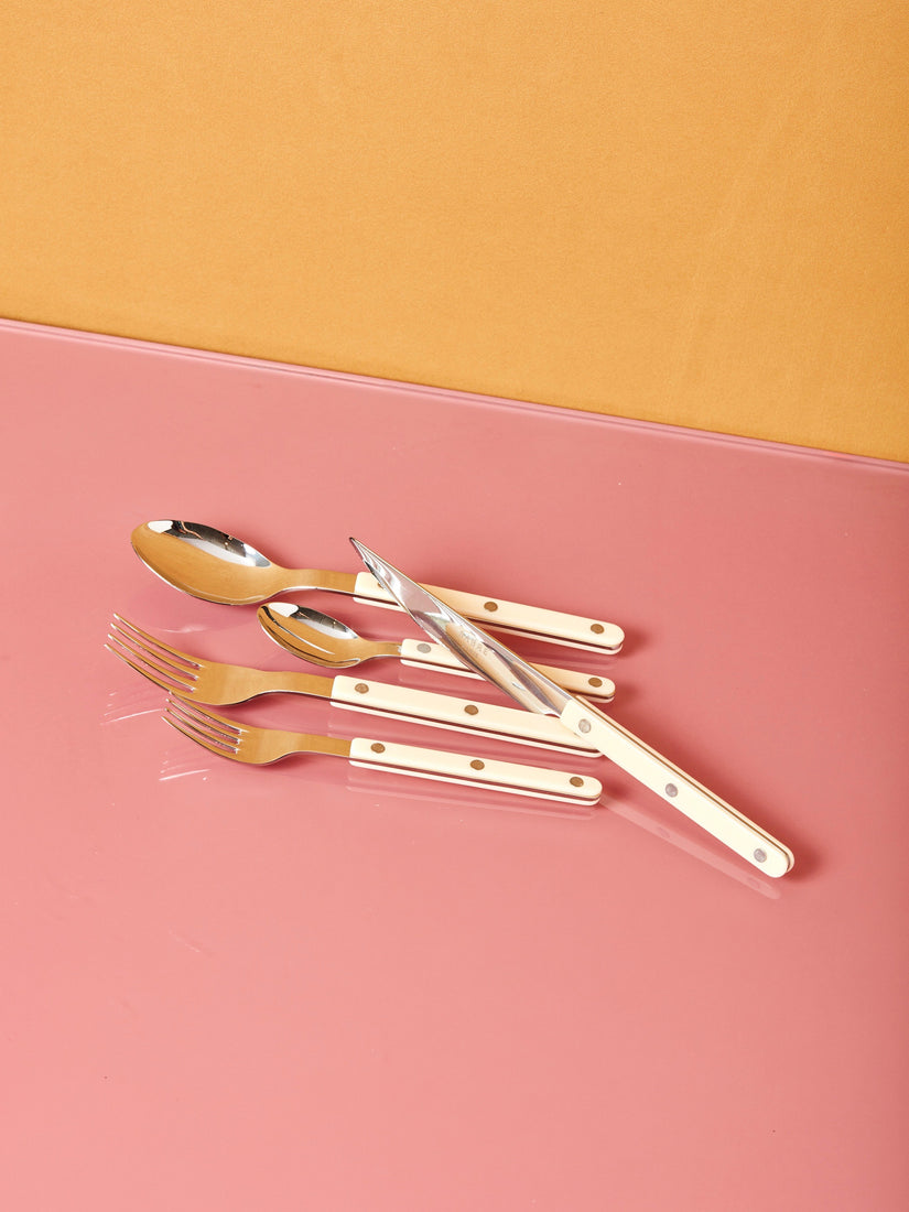 Stainless Steel Flatware in Ivory