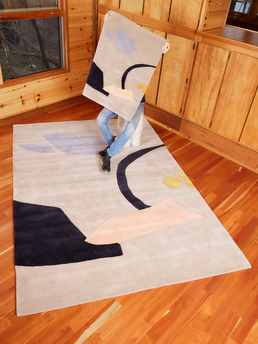 """The Goldfish and her Boy"" Rug"