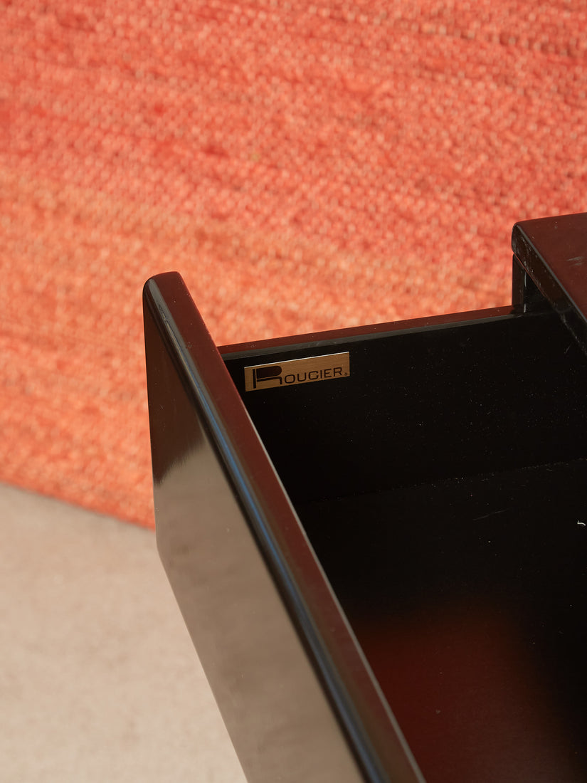 Black Lacquered Nightstand