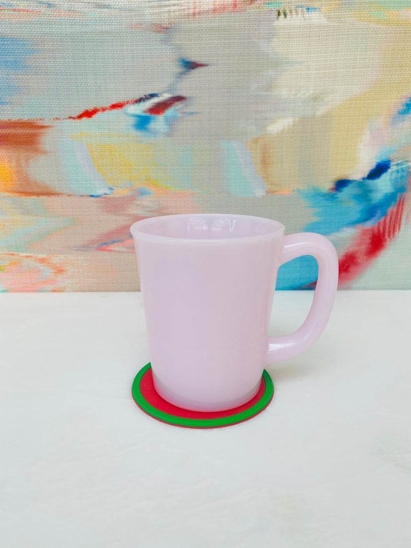 Pink Milk Glass Mug