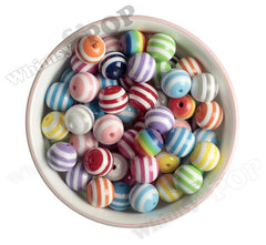 16mm Striped Beads