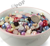MAGENTA PINK 10mm Flatback Pearl Cabochons - WhimsyandPOP