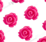 HOT PINK 10mm Rose Flower Cabochons - WhimsyandPOP