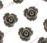 GRAY 10mm Rose Flower Cabochons - WhimsyandPOP
